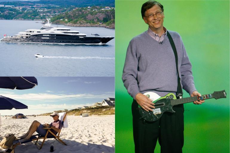 Los lujos de Bill Gates, la persona más rica del mundo