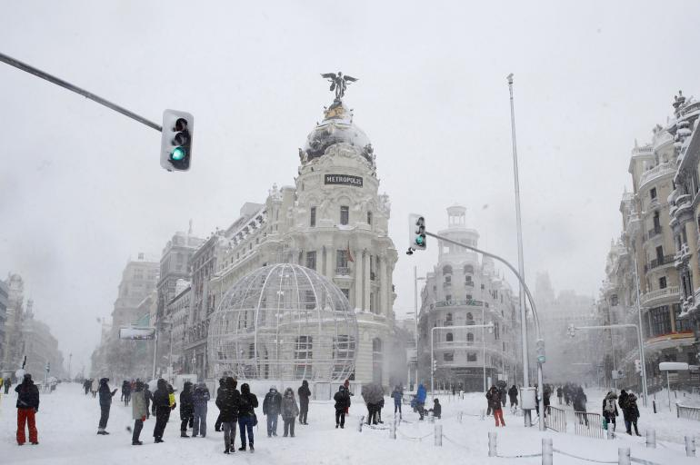 Fotos de la nevada en Madrid